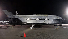 Airplane Picture - The X-37B sits on the runway at Vandenberg AFB after landing