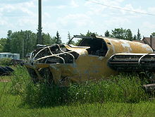 Airplane Picture - Bolingbroke in a Manitoba junk yard, 2006