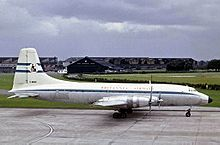 Airplane Picture - Britannia Airways Britannia Model 102 at Manchester Airport in 1965