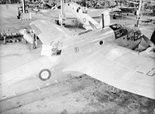 Airplane Picture - Beauforts being built at the DAP plant in Fisherman's Bend, Melbourne. The ASV radar aerial array on the rear fuselage and a small blue/white Pacific Theatre roundel indicates this is a late Beaufort Mk VIII.