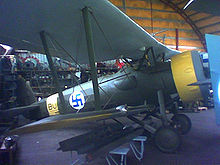Airplane Picture - Bristol Bulldog preserved at the Hallinportti Aviation Museum museum.