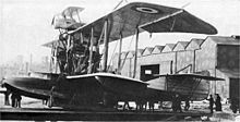 Airplane Picture - Bristol Scout parasite fighter atop the Felixstowe Porte Baby, 1916.