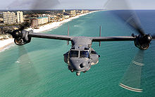 Airplane Picture - A CV-22 of 8th Special Operations Squadron flies over Florida's Emerald Coast.