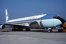 Airplane Picture - VC-137C SAM 27000 (Air Force One) parked on the tarmac at the Venice Marco Polo Airport, Italy in 1987