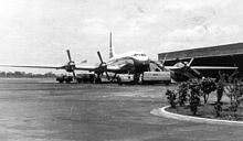 Airplane Picture - BOAC Britannia Model 312 at Darwin's civil terminal, c. 1958
