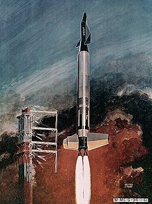 Airplane Picture - An artist's impression of Dyna-Soar being launched using a Titan booster.