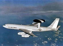 Airplane Picture - USAF E-3 in flight