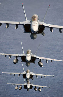 Airplane Picture - Four F/A-18Fs of VFA-41