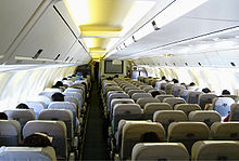 Airplane Picture - 767-300 economy cabin with traditional interior
