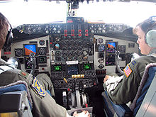 Airplane Picture - Flight deck of KC-135R; instrument panel has been modified under the Pacer-CRAG program