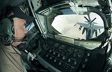 Airplane Picture - USAF KC-135R boom operator view