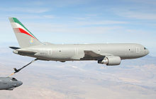 Airplane Picture - Italian Air Force KC-767 Tanker Transport with refueling boom extended