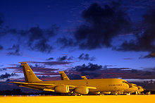 Airplane Picture - KC-135Rs at twilight on the flightline