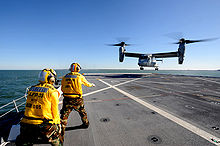 Airplane Picture - V-22 landing on the USS New York 19 October 2009