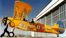 Airplane Picture - US Navy N2S-2 at NAS Corpus Christi, 1943.