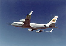 Airplane Picture - KC-135 winglet flight tests at Dryden Flight Research Center.