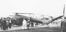 Airplane Picture - West German air force Sycamore Mk.14 at Farnborough show in 1958