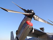 Airplane Picture - Closeup of rotor and engine of a MV-22B
