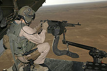 Airplane Picture - M240 machine gun mounted on V-22 loading ramp.