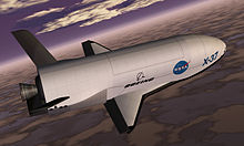 Airplane Picture - X-37 spacecraft, artist's rendering from 1999