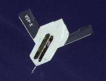 Airplane Picture - X-45A underside with weapons bay door open