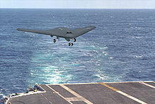 Airplane Picture - Artist's Impression of an X-46 landing on a carrier