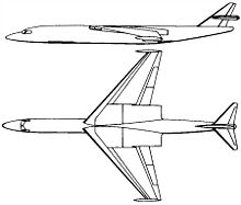 Airplane Picture - XB-59 sketch submitted to the Air Force