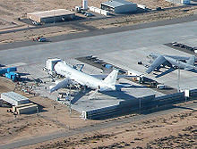 Airplane Picture - YAL-1 undergoing modification in November, 2004, at Edwards AFB