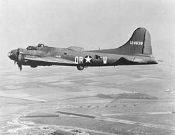 Airplane Picture - After completing 80 323rd BS missions, Aphrodite B-17F (The Careful Virgin) was used against Mimoyecques, but impacted short of target due to controller error.