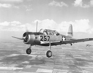 Warbird Picture - BT-13 Valiant in flight