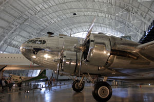 Warbird Picture - A restored Boeing 307 ex-Pan Am on display at the Steven F. Udvar-Hazy Center