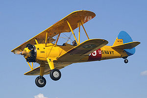 Warbird Picture - Boeing Stearman N67193 in USN markings