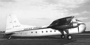 Warbird Picture - Bristol Freighter 31 of Dan-Air operating a passenger flight at Manchester in 1958