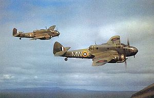 Warbird Picture - Colour photo of Two Beaufort Mk.Is of 217 Squadron