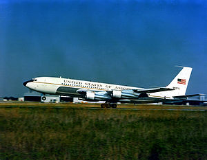 Warbird Picture - A VC-137B Stratoliner aircraft taking off in 1981