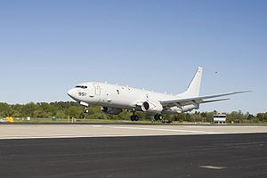 Warbird Picture - A P-8A lands at NAS Patuxent River, Maryland
