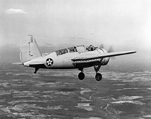 Warbird Picture - An SBN-1 of Torpedo Squadron Eight, 1941