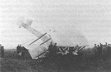 Airplane Picture - Alcock and Brown's crashed Vimy at Clifden, Ireland on June 15, 1919