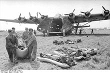 Airplane Picture - The Me 323 transporting wounded personnel in Italy.