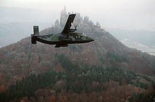 Airplane Picture - A C-23A Sherpa in front of Hohenzollern Castle in the Black Forest in 1984.