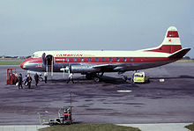 Airplane Picture - Viscount 701 of Cambrian Airways at Bristol Airport in 1963