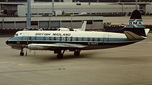 Airplane Picture - Viscount 814 of British Midland in 1981