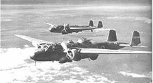 Airplane Picture - Two G3M2 bombers - the nearest Model 22 and the other a Model 21
