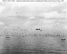 Airplane Picture - IJN aviators pressed home a torpedo attack against American ships off Guadalcanal on 8 August 1942, suffering heavy losses.
