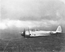 Airplane Picture - A captured Ki-43-Ib in flight over Brisbane, 1943.