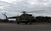 Airplane Picture - Finnish Mi-8 in Hernesaari, Helsinki, in 2005