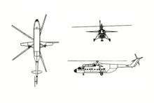Airplane Picture - Mi-6 three view drawing