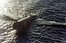 Airplane Picture - Crashed G4M1 floating at Tulagi 8 August 1942.