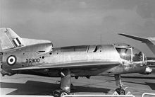 Airplane Picture - XG900 Short SC.1 at the SBAC show in 1961, showing the oleo leg fairings and the lift engine automatic inlet louvres added in mid-1960.