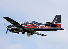 Airplane Picture - Royal Air Force Short 312 Tucano in special colours as the RAF's 2008 display aircraft.